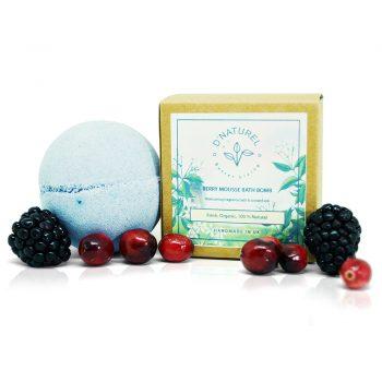 organic bath bombs, organic berry mousse bath bomb