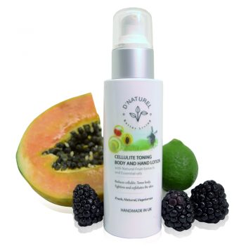 natural cellulite toning body and hand lotion