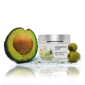 organic night cream, natural skin rejuvenating cream