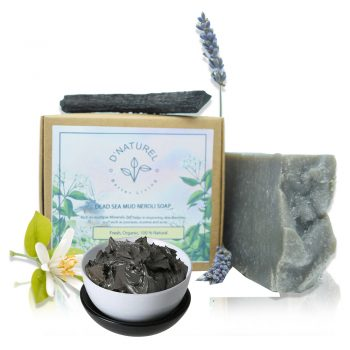 organic dead sea mud and neroli soap