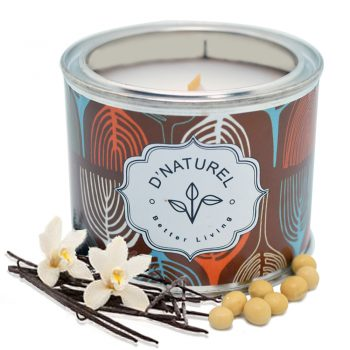 soy wax candle, natural tin candles