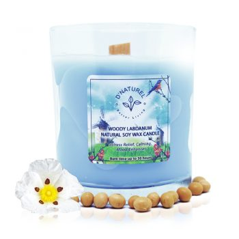 labdanum scented soy wax candle