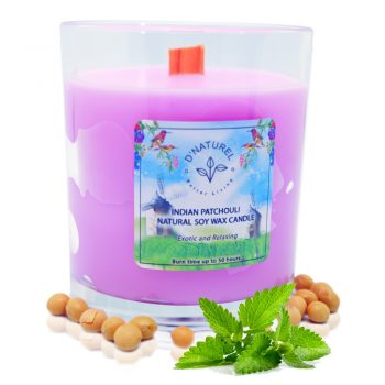 Natural soy wax candle