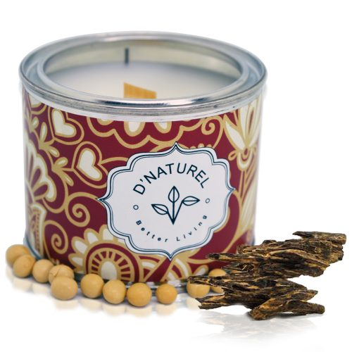 natural soy wax tin candle