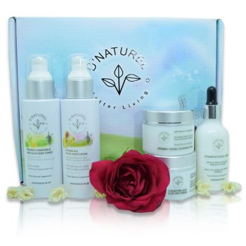 natural anti-ageing skincare set, reduce wrinkles