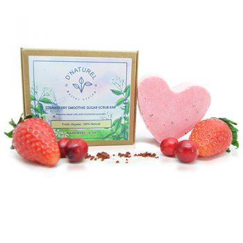 organic strawberry sugar scrub bar